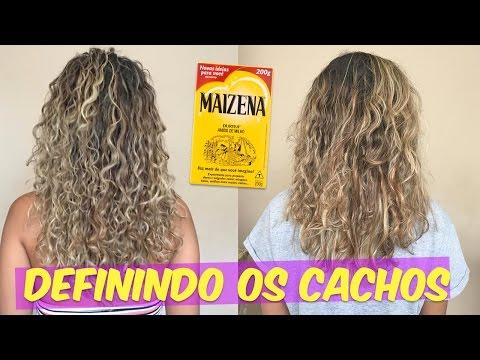 HIDRATAÇÃO DE MAIZENA PARA DEFINIR CABELOS CACHEADOS! - RAFAELLA BALTAR