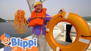 Blippi Explores Boats For Kids | Educational Videos For Children