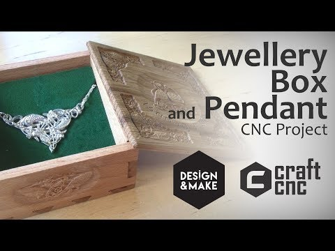 Make a Jewellery Box and Pendant using a DIY CNC – Free CNC Plans