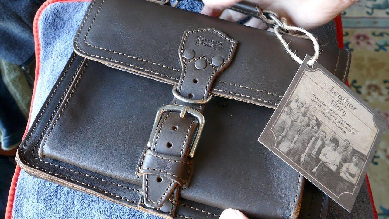 Saddleback Leather Tablet Bag In 4k Uhd