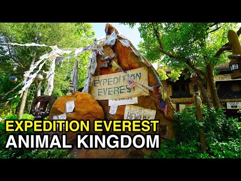 [4K] Expedition Everest - Mountain Adventure Back Row : Animal Kingdom (Orlando, FL)
