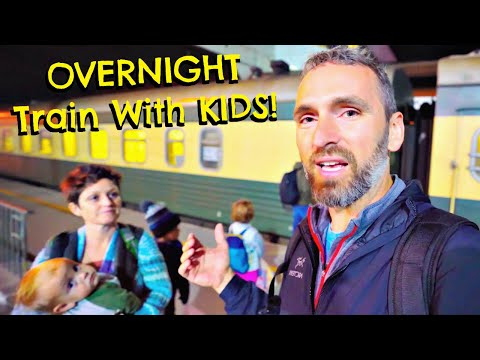 OVERNIGHT TRAIN RIDE With KIDS! | Georgia To Azerbaijan: What You Need To Know!