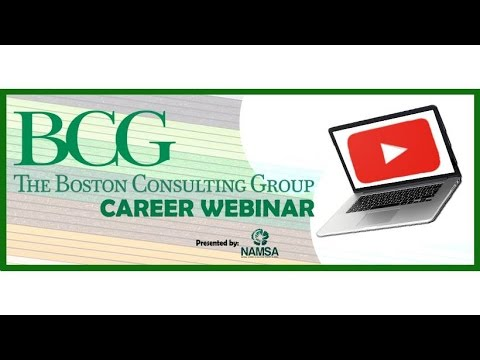 NAMSA Career Webinar: Boston Consulting Group 101