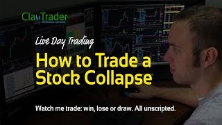 Live Day Trading - How to Trade a Stock Collapse
