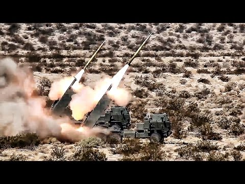 Marines Fire GMLRS • Guided Multiple Launch Rocket System