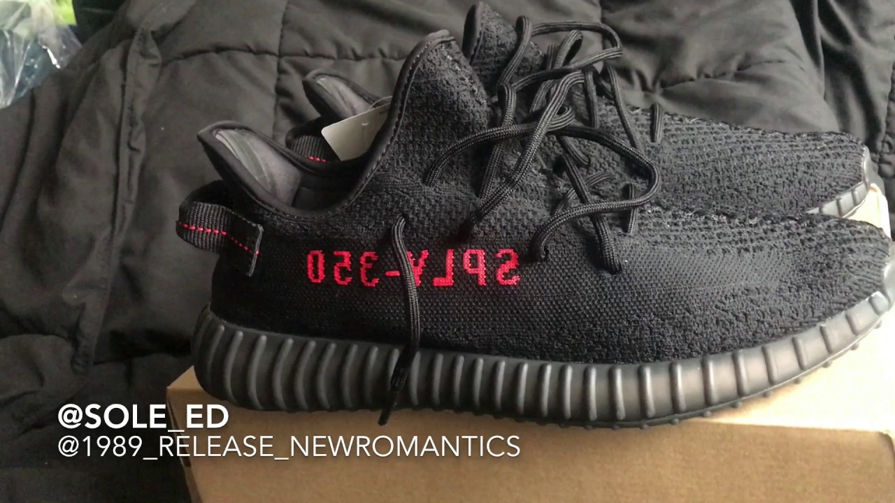 Yeezy Supply >> Yeezy Boost Supply 350 V2 Black Red Review Youtube