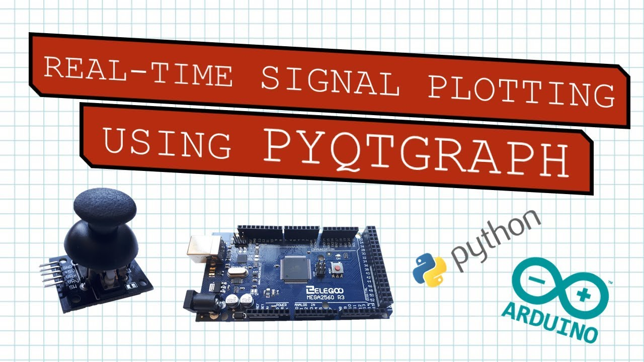Real-time plotting of analog joystick signals using pyqtgraph