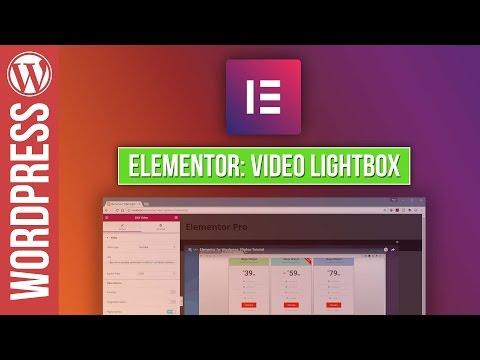 ELEMENTOR for WordPress Video Lightbox Tutorial - 동영상