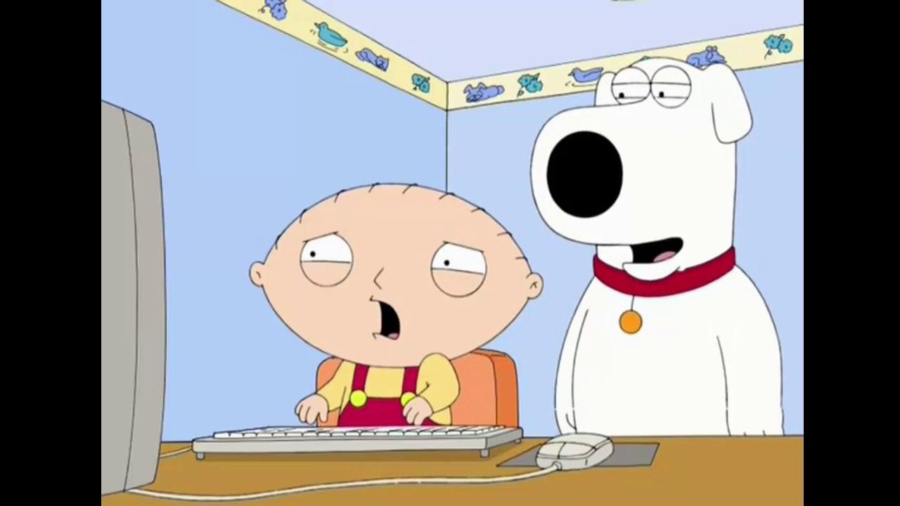Uma família da pesada  - Stewie reagindo a ''2 girls 1 cup''