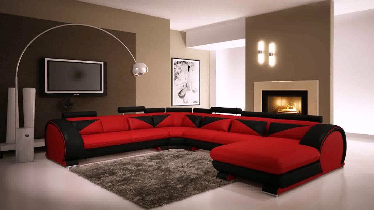Living Room Design With Red Furniture Youtube