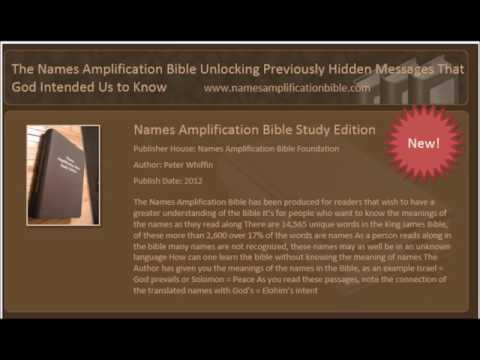Names Amplification  AUDIO BIBLE.  The book of GENESIS chapter 1 to 25   By Peter Whiffin.
