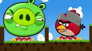 Angry Birds Cannon 3 - TRANSFORM THE RED TO GIANT TO KICK HUGE PIGGIES!