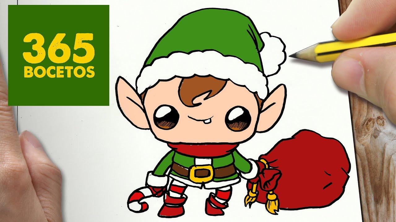 Como dibujar un elfo para navidad paso a paso dibujos - Dessiner un elfe ...