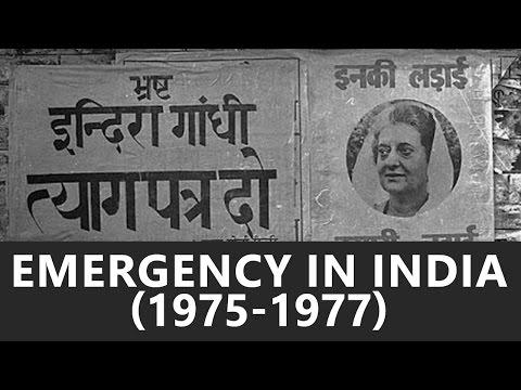 India During National Emergency (1975-1977) - Roman Saini [UPSC CSE/IAS, State PSC, SSC CGL]
