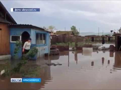 В Интикуле подтоплены 29 домов. Новоселовский район Андрей Гришаков