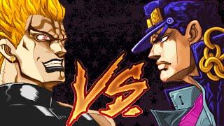 【2D-Dot】 jotaro vs DIO 【JoJo's Bizarre Adventure - All-Star Battle.Voice】