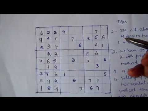 How To Play SUDOKU In Easy Way - Full Tricks And Tips