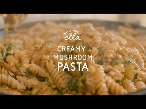 Creamy Mushroom Pasta | Deliciously Ella | Vegan