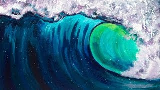 Beginner Acrylic Art Lesson How To Paint A Wave Step By Step With The Art Sherpa
