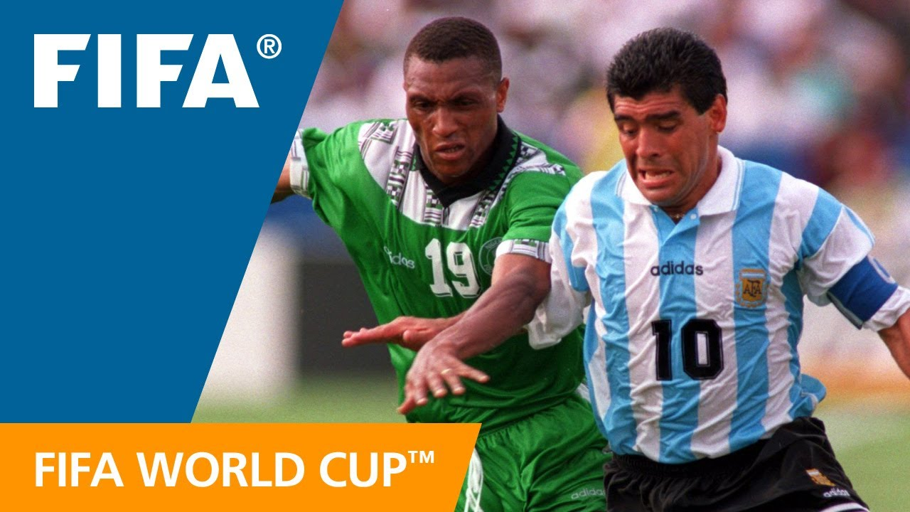 8153825d330 World Cup Highlights: Argentina - Nigeria, USA 1994 - YouTube