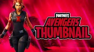 "NEW FREE ""Fortnite Avengers"" Thumbnail Template 2019 - (FREE Fortnite GFX Template)"