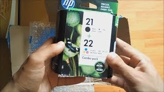 HP 21/22 Combo Pack Multicolor Ink Cartridge Unboxing