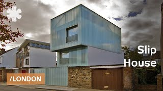 Minimal UK compact home uses glass, plywood, steel, concrete
