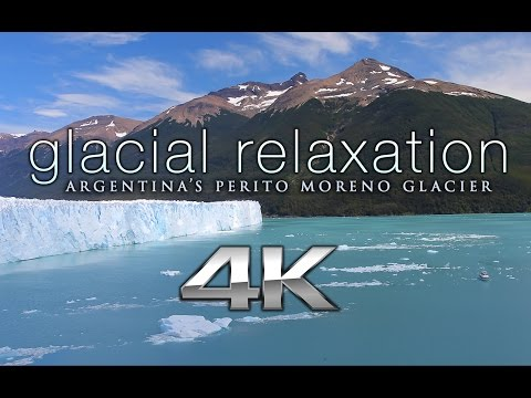 """Glacial Relaxation"" 4K Nature + Sound Therapy: Argentina's Perito Moreno + Sacred Ratio Music"
