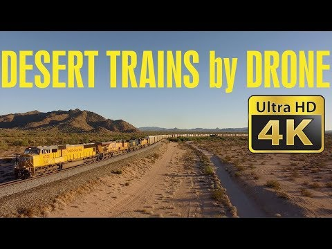 Desert Trains by Drone in 4K