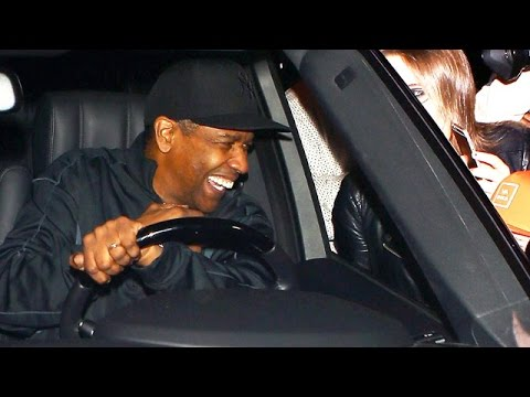 Too Cute! Watch Denzel Washington Charm Young Fan Outside Sidney Poitier's B-Day Bash