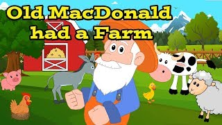 Old MacDonald Had A Farm - Learning Farm Animal Sounds