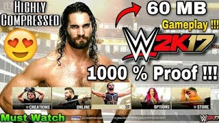 [60 MB] WWE 2K17 Highly Compressed Full Game With 1000% Proof!!!! (in Hindi)