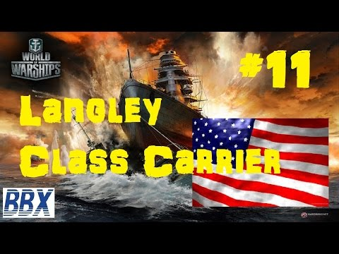 World of Warships Gameplay Langley Class Carrier