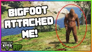 GTA 5 Roleplay - Bigfoot Attacks Me While Hunting | RedlineRP #28