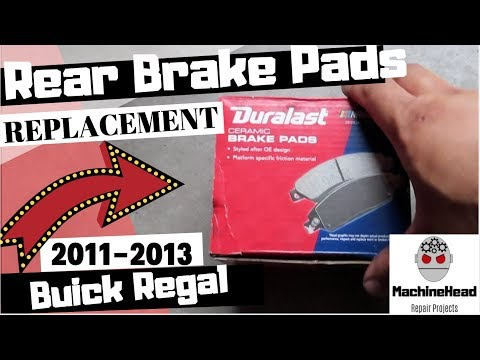 Rear Brake Pads Replacement 2011-2013 Buick Regal