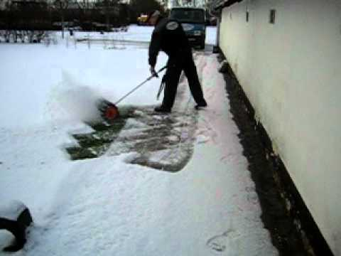 Power Brush For Snow Removal