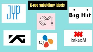 Download K - POP SUBSIDIARY LABELS list are under top companies