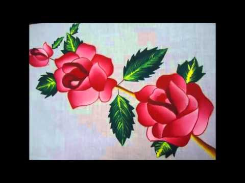 Fabric Painting designs - YouTube