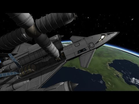 Kerbal Space Program: SH-81 SSTO docking with space station