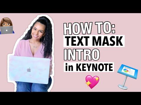 HOW TO MAKE A YOUTUBE INTRO   Keynote Tutorial (Text Masking) thumbnail
