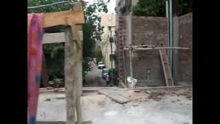illegal construction next to a57 inderpuri encroachment of public road in heart of delhi india