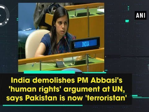 India demolishes PM Abbasi's 'human rights' argument at UN, says Pakistan is now 'terroristan'