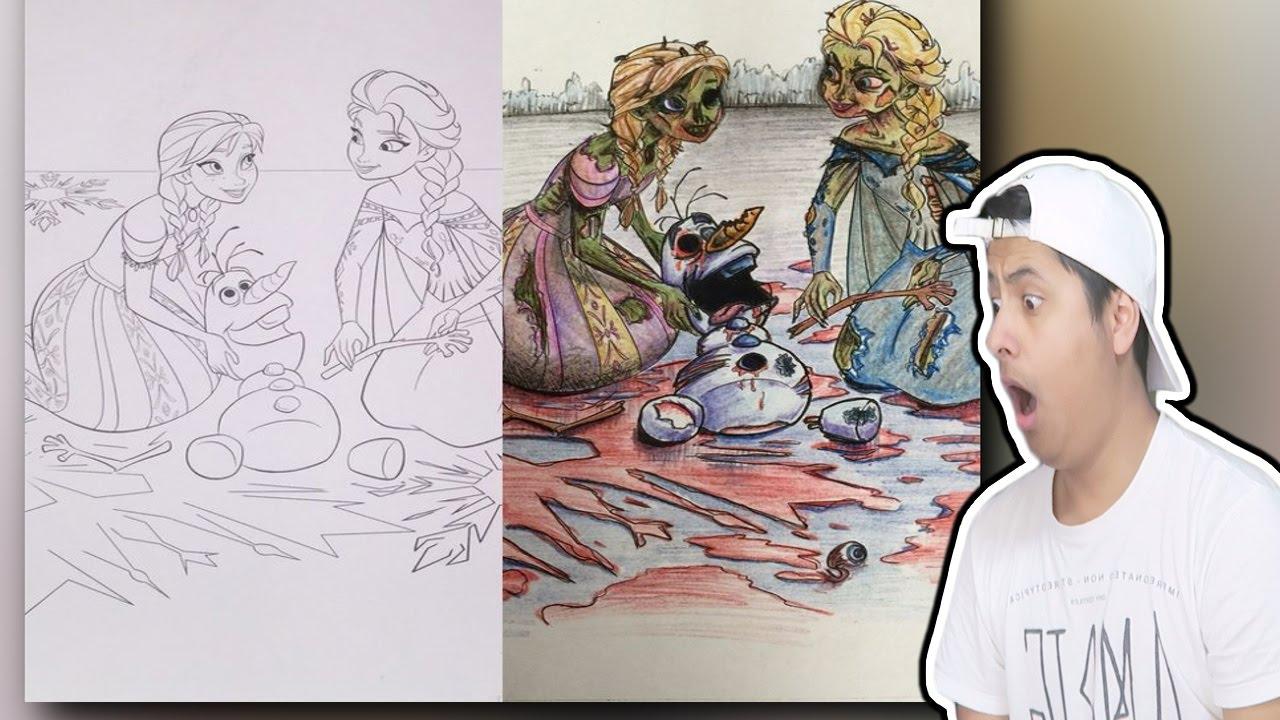 Most Disturbing Children Coloring Book Drawings