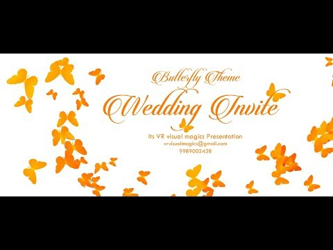 Best Classy Musical Wedding Invitation Video |  save the date video | VR visual magics | VR 34