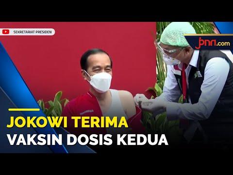 Jokowi Terima Vaksin Covid-19 Dosis Kedua Bareng Raffi Ahmad