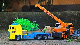Plant a tree | Crane Truck, Tow truck , Helicopter, Wheel loader ,Construction vehicles