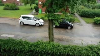 Unwetter in Mölln. 23.06.2017
