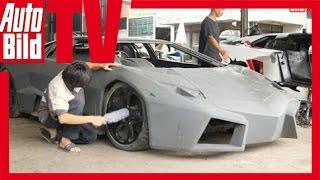 Lamborghini & Ferrari Kopien - Autofälscher in Bangkok