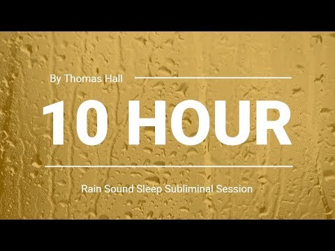 Relief from Anxiety & Panic Attacks - (10 Hour) Rain Sound - Sleep Subliminal - By Thomas Hall Mp3