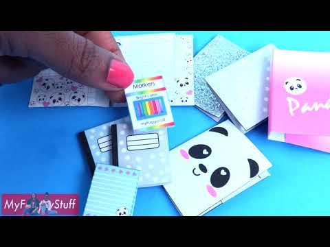 DIY   How to Make  Doll School Supplies   EASY   Working Note Books   Paper   Pencils & more